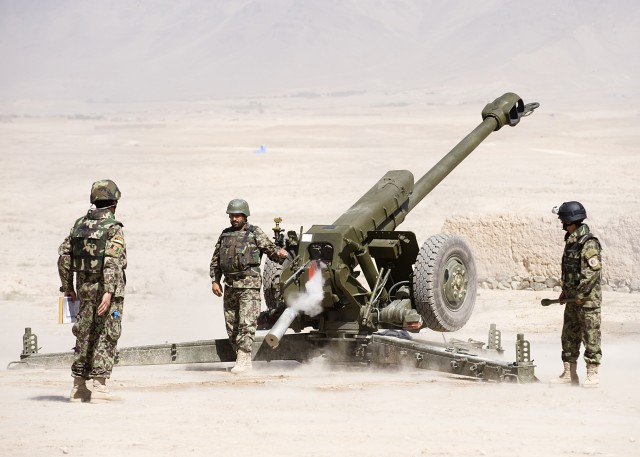 Afghan Army opens new artillery training school