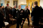General Casey leaving Medal of Honor White House ceremony