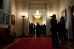 People standing in the hall at the White House