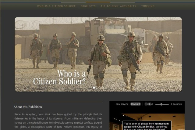 Screen Shot of Citizen Soldier Online Exhibit