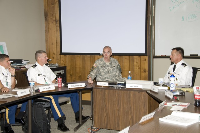 Lt. Gen. Daniel Bolger, Army Deputy Chief of Staff, spoke to Army War College students in their seminar room Oct. 14 as part of the annual Anton Myrer Leader Day.