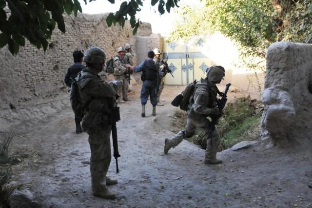 Canadian patrol in Panjwai'i 9