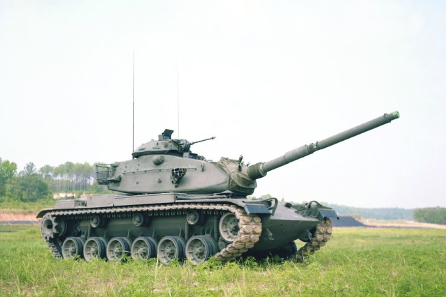 Before the Anniston Army Depot put its hands on the M1 family of vehicles, the M60 (pictured here) was the Army's main battle tank. The depot overhauled and upgraded M60 tanks through the 1970s.
