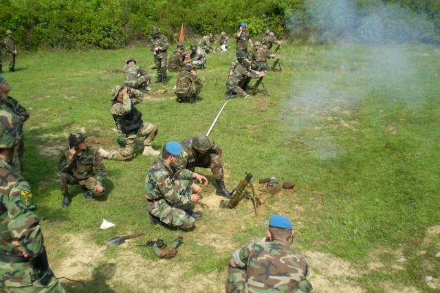 Commando firing on the RPG range