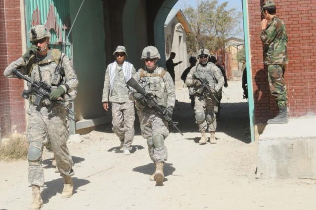 TF Currahee Soldiers on patrol in KKC