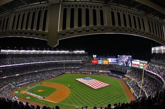 U.S. Military Color Guard at Yankee Stadium