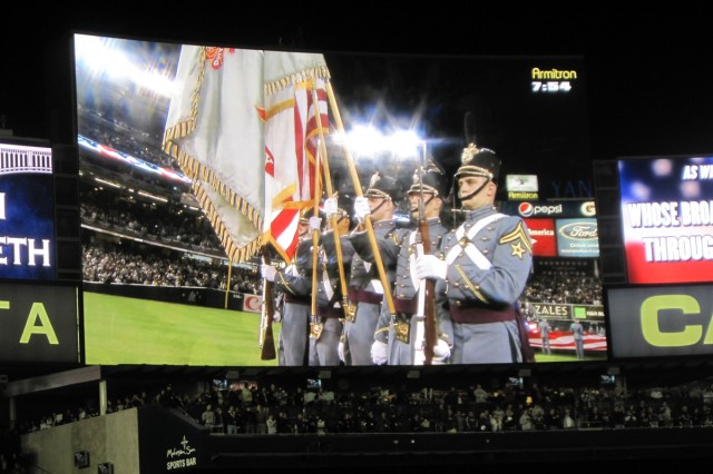 U.S. Military Color Guard at Yankee Stadium