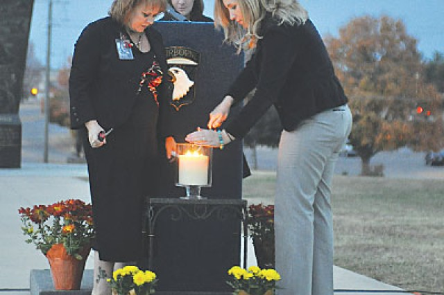 Mothers remember fallen at post candlelight vigil