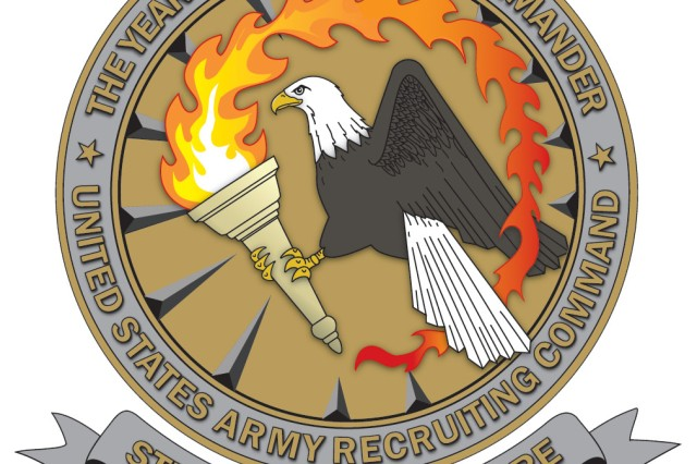 Year of the Recruiting Station Commander logo designed by Terry Wise, 3d Medical Recruiting Battalion.