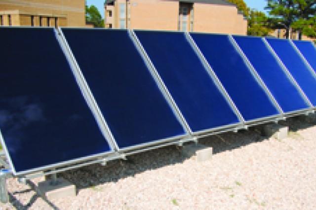 Using solar panels to power barracks is one way Fort Polk is working toward sustainability.