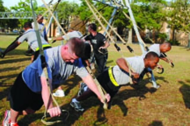 Red Cross donates TRX equipment to Fort Polk's WTU