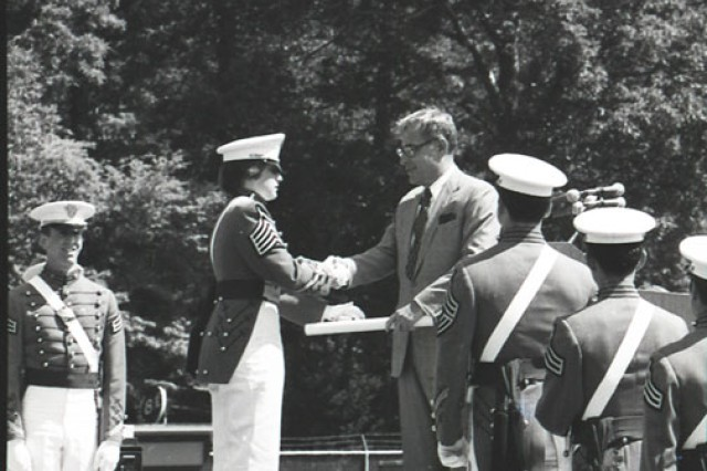 Andrea Hollen, the first woman to receive her diploma from West Point, was also the academy's first woman to earn a Rhodes scholarship.