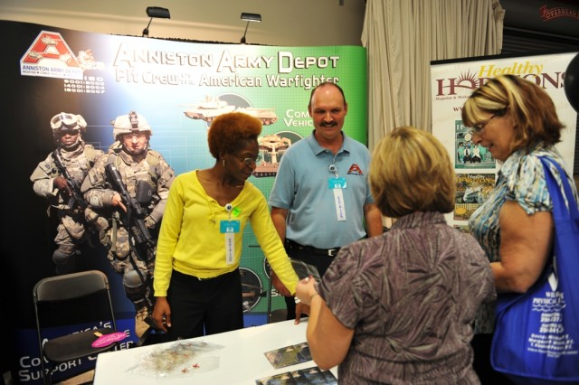 Anniston Army Depot's display at the Calhoun County Chamber of Commerce's Business to Business Expo.