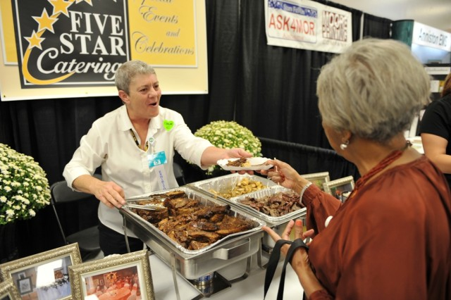 Anniston Army Depot Five Star Catering's display at the Calhoun County Chamber of Commerce's Business to Business Expo.
