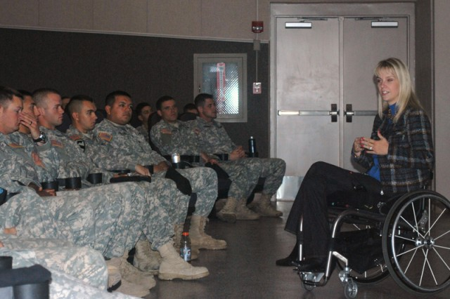 Army spouse, paraplegic shares personal story, urges Soldiers to drive safely