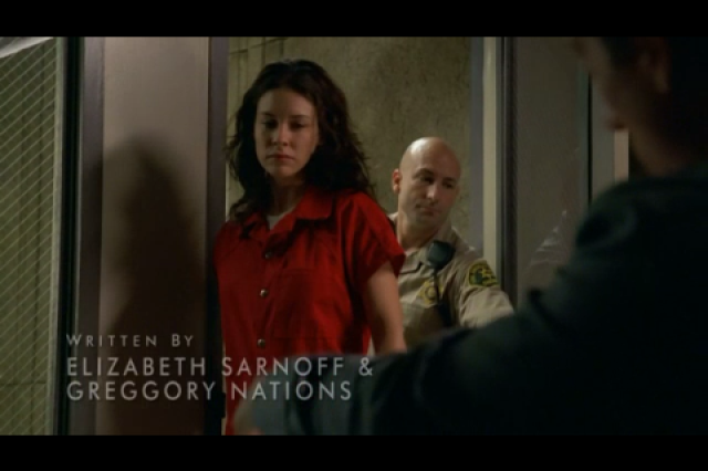A screenshot from the television show 'Lost' depicts Staff Sgt. Tim Burton playing the role of a sheriff. Burton appeared as an extra on the show for seasons four, five and six.