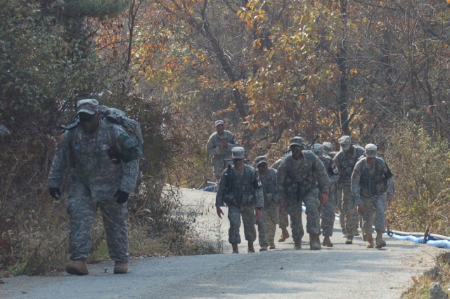 Leaders from the United Nations Command Security Battalion-Joint Security Area took part in a team building exericse near Korean Demilitarized Zone Nov. 3 - 4.