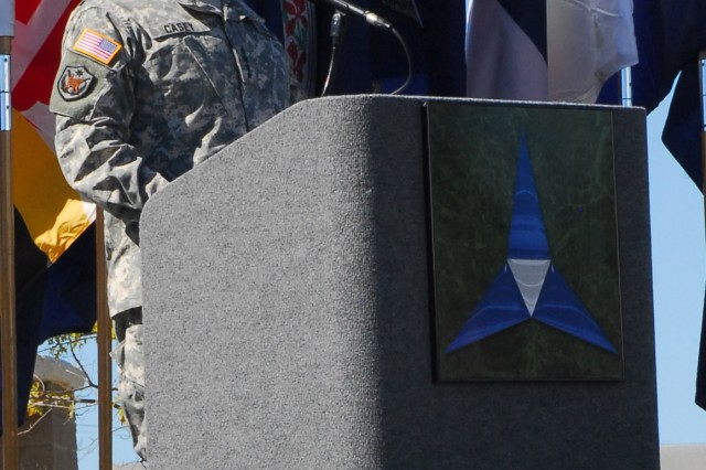 Army Chief of Staff Gen. George W. Casey Jr., addresses hundreds in attendance at a remembrance ceremony at Fort Hood, Texas, Friday. The ceremony commemorated the lives of 13 people who lost their lives in a tragic shooting incident on the installation Nov. 5, 2009. Casey said the 13 fallen represent the best of America and its Army.