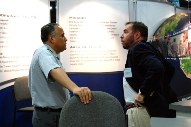 AUSA exposition visitors learn firsthand of Army South's partner-nation army relationships