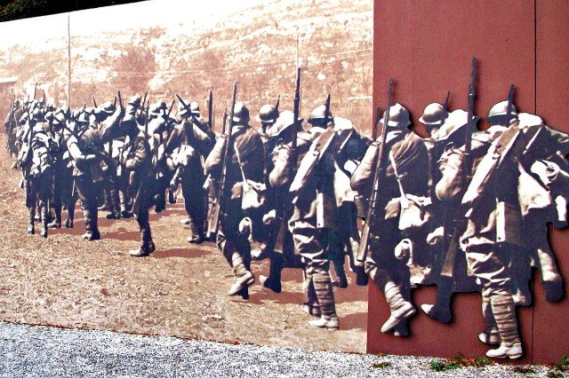 The Italian Alpini units, organized long before the hostilities of World War I, were primarily made up of men raised in the rugged northern mountain regions of Italy.