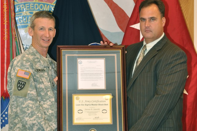 FORSCOM civilian receives Lean Six Sigma Master Black Belt