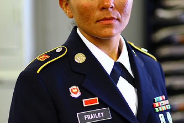 Sgt. Felicia Frailey was named Fort Sill's Noncommissioned Officer of the Quarter