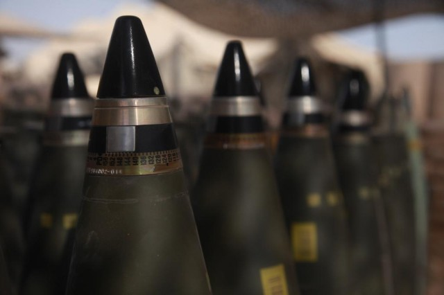 M795 projectiles, like the ones pictured here, will soon become equipped with IMX-101, making them far less likely to explode if dropped, shot at or hit by a roadside bomb during transport.