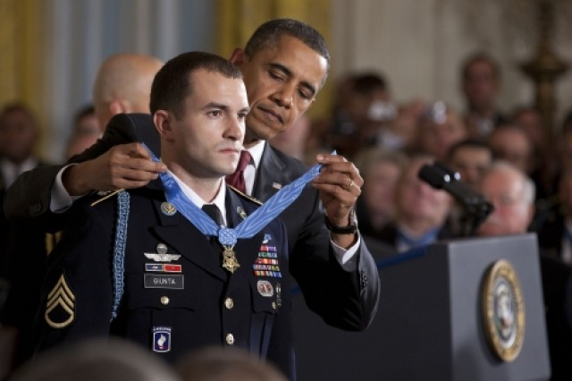 Medal of Honor presented to Staff Sgt. Salvatore Giunta