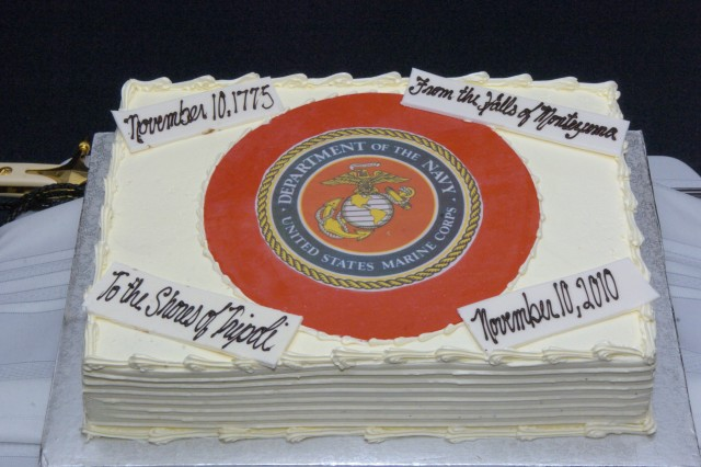 The Marine Corp's birthday cake-cutting ceremony is described on the Marine Corps website as being important to all Marines because it is an annual renewal of each Marine's commitment to the Corps, and the Corps' commitment to our nation's quest for peace and freedom worldwide.