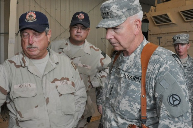 Third Army Commander Visits 401st