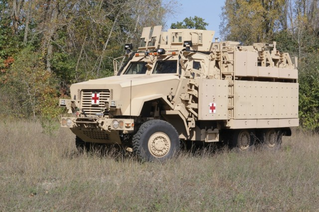 A team from the Pentagon is working with Army Medical Command and BAE Systems to develop a new Caiman ambulance with more space, more electric power and more protection.