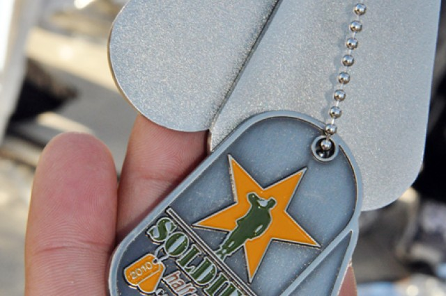 Each finisher received a medal commemorating their achievement.