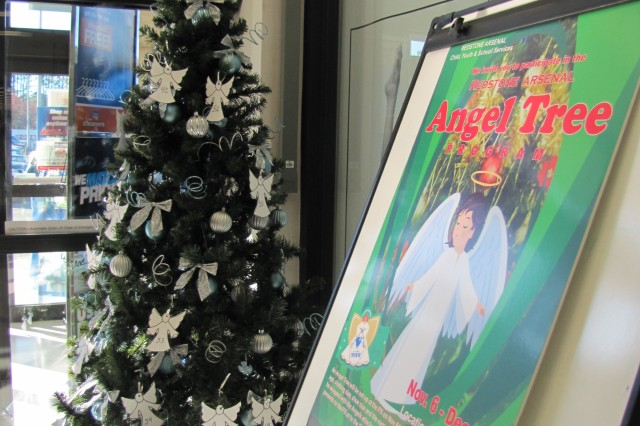 The Angel Tree, organized by FMWR's Child Youth and School Services, stands ready to make a difference in a military child's life at the Post Exchange.