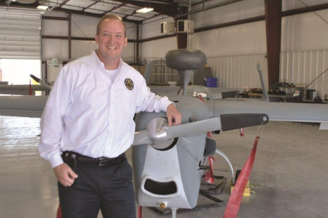 Deputy project manager Tim Owings says the Unmanned Aircraft Systems team was instrumental in his Distinguished Civilian Service Award.
