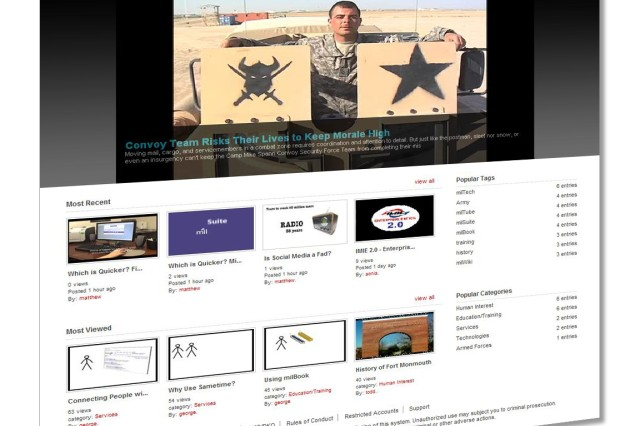MilTube is a safe military alternative to commercial video-sharing sites like YouTube.