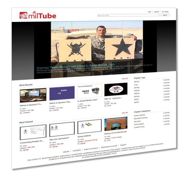 MilTube brings video-sharing behind the DoD firewall