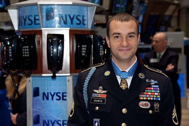 Staff Sgt. Giunta at NYSE (1 of 3)
