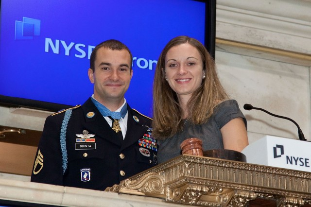 Staff Sgt. Giunta at NYSE (2 of 3)