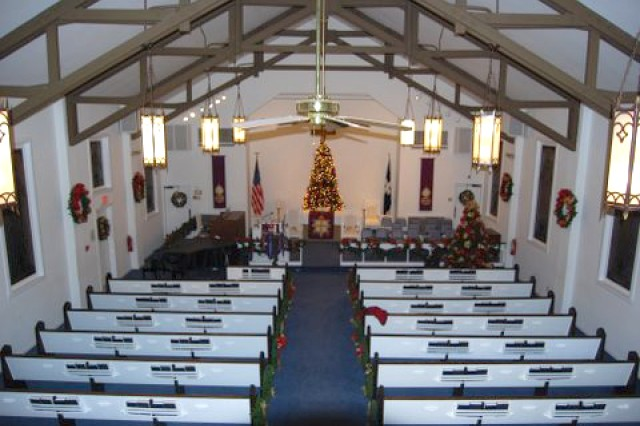 The Fort Gillem Chapel, Bldg. 734, has served the religious needs of the community since 1941. After 69 years, the building will officially be decommissioned as a place of worship Sunday at 2:30 p.m. Though the building will no longer serve the Lord, its sacred items will continue their service at other installation chapels at Fort Benning and Fort Bragg, N.C.