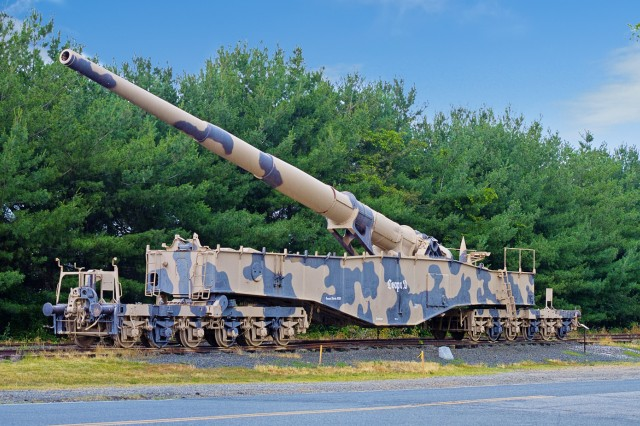 Anzio Annie as it appeared at Aberdeen Proving Ground, Md.
