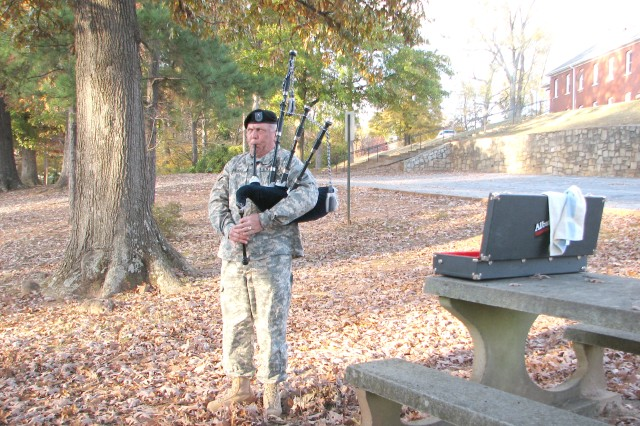 Bagpipe melody carries sound of completed dream