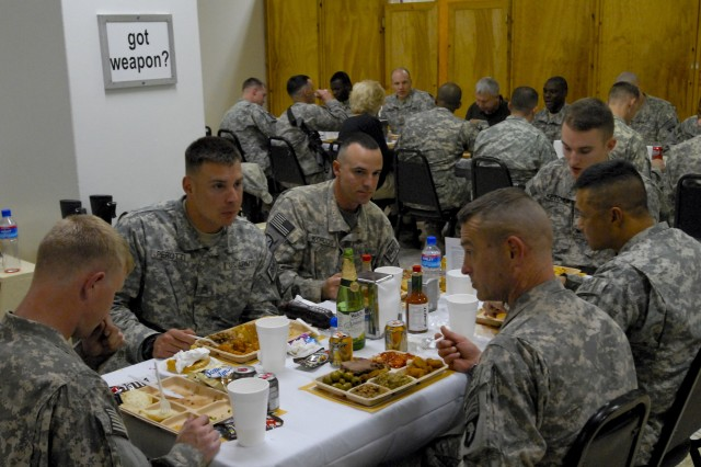 Troops at FOB Salerno take time to give thanks