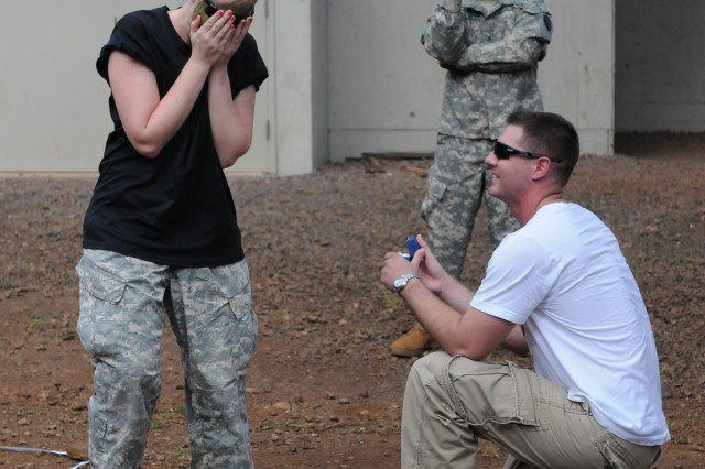 Cacti Soldier Proposes Marriage During Battalion's Spouse Day