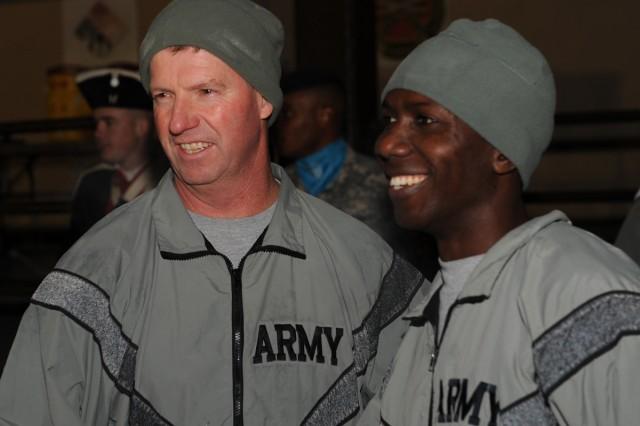 Sergeant Major of the Army Kenneth O. Preston led a run on Yongsan Garrison Nov. 29.