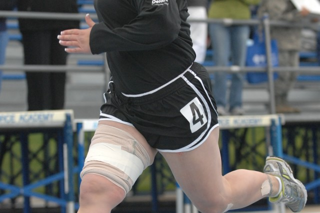 An Army athlete races in a Warrior Games track event. Wounded, ill and injured servicemembers and veterans from across the services came to Colorado to compete in the inaugural games.