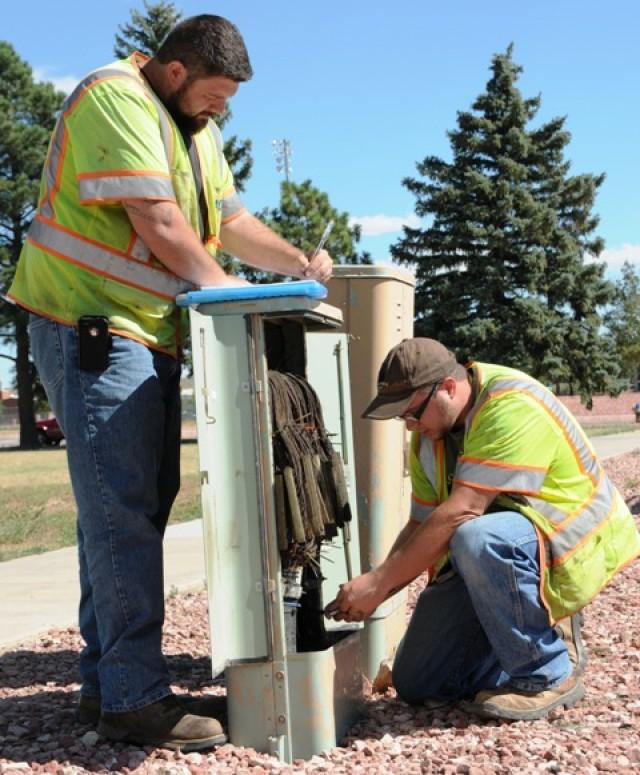Cable pedestal inspection