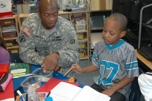 Adopt-a-School program pairs Soldiers and students