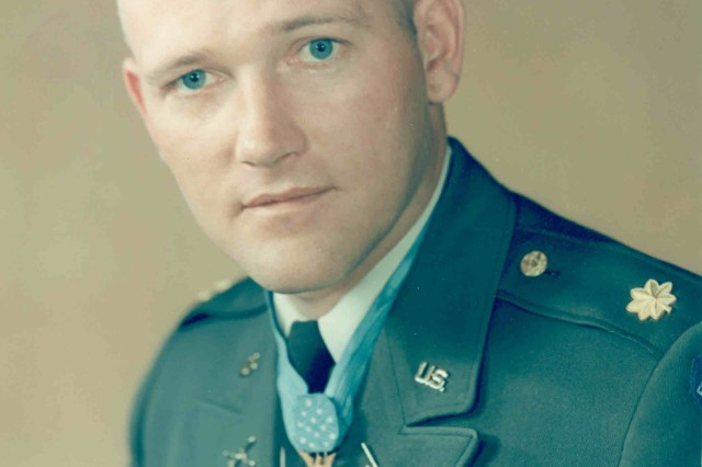 Major Roger H. C. Donlon in a U. S. Army color portrait.  Donlon would retire from the Army in 1985 at the rank of Colonel.