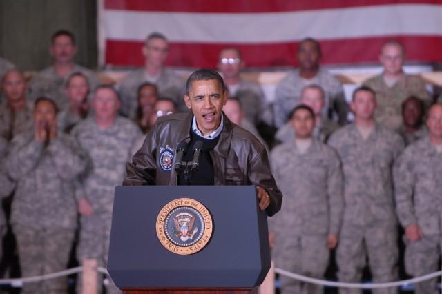 Obama at Bagram Airfield