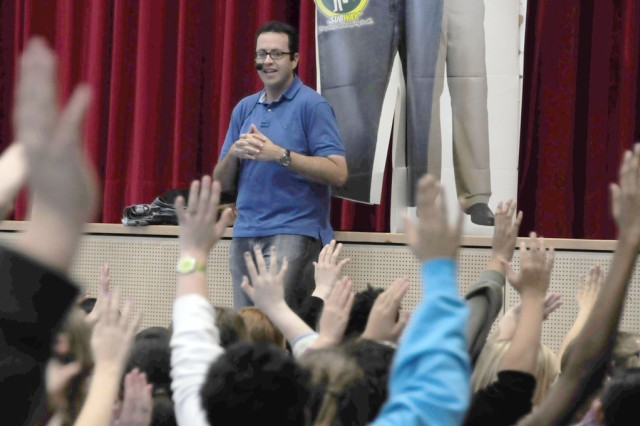 'Subway guy' promotes health, nutrition at Netzaberg schools